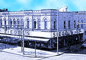 siegels old location on 4th street in Evansville, IN