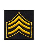 Embroidered Collar Insignia – 3 Chevrons (Sergeant)