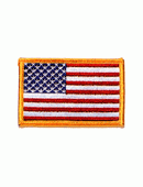 Standard Flag, Dark Gold Border