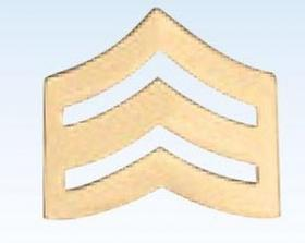 "1"" Police Chevrons Insignia Sergeant Gold Finish"