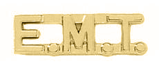"1/2"" EMT Cut Out Letter Collar Insignia Gold Finish"