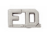 "1/2"" F.D. Cut Out Letter Collar Insignia Silver Finish"