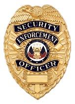 Blackinton Stock Badge - Security Enforcement Officer in gold finish