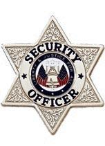 Blackinton Stock Badge - Security Officer 6 point star silver finish