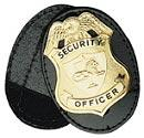 Boston Leather Badge Holder - Oval w/ generic pin-in