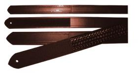 "Boston Leather Cordovan Basketweave 1 1/2"" Velcro Tip Inner Belt"