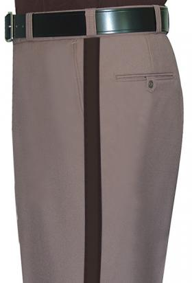 "Fechheimer Men's Poly/Wool Sheriff Trousers w/ 1"" Brown Stripe"