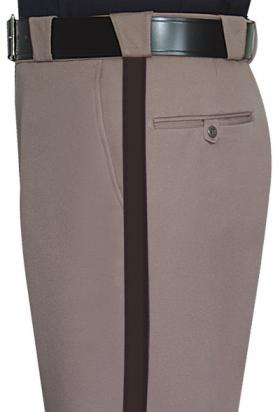 "Fechheimer Women's 100% polyester Elastique Sheriff Trousers w/ 1"" Brown Stripe"