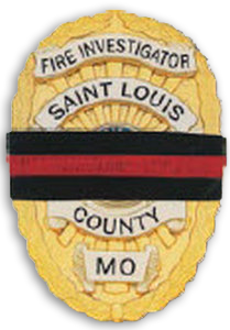 Hero's Pride Badge Mourning Band (Fire)