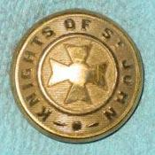 Knights of St John Metal Button