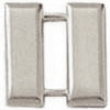 Police Collar Insignia - Captain Bars Silver Finish