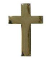 Police Collar Insignia - Chaplain Cross Gold Finish