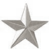 Police Collar Insignia - General Star Silver Finish