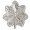 Police Collar Insignia - Oak Leaves Silver Finish