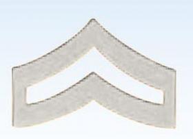 "Premier Emblem 1"" Police Chevrons Insignia Corporal in Silver Finish"