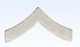 "Premier Emblem 1"" Police Chevrons Insignia Private in Silver Finish"