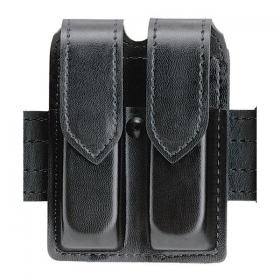 Safariland Leather Double Mag Holder Hidden Snap