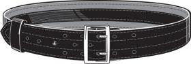 Safariland Leather Duty Belt with Suede Liner & Velcro 2.500""