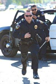 police officer running