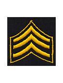 Collar Insignia – 3 Chevrons (Sergeant)